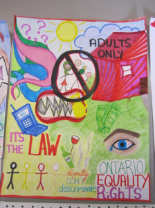 Youth for Housing for Youth project engages youth on human rights and housing using visual arts as a tool for creative advocacy.