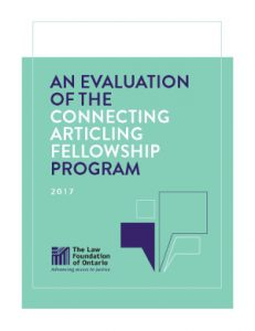 An evaluation of the Connecting Articling Fellowship program